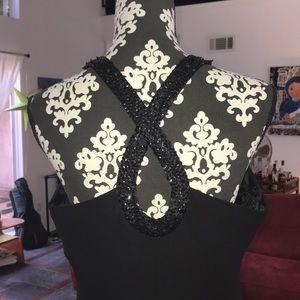 Jones New York Holiday Dress sz 12 Halter Sequin